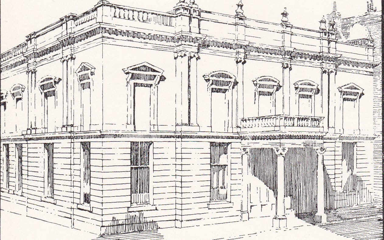 A drawing of the Philosophical Hall in 1921