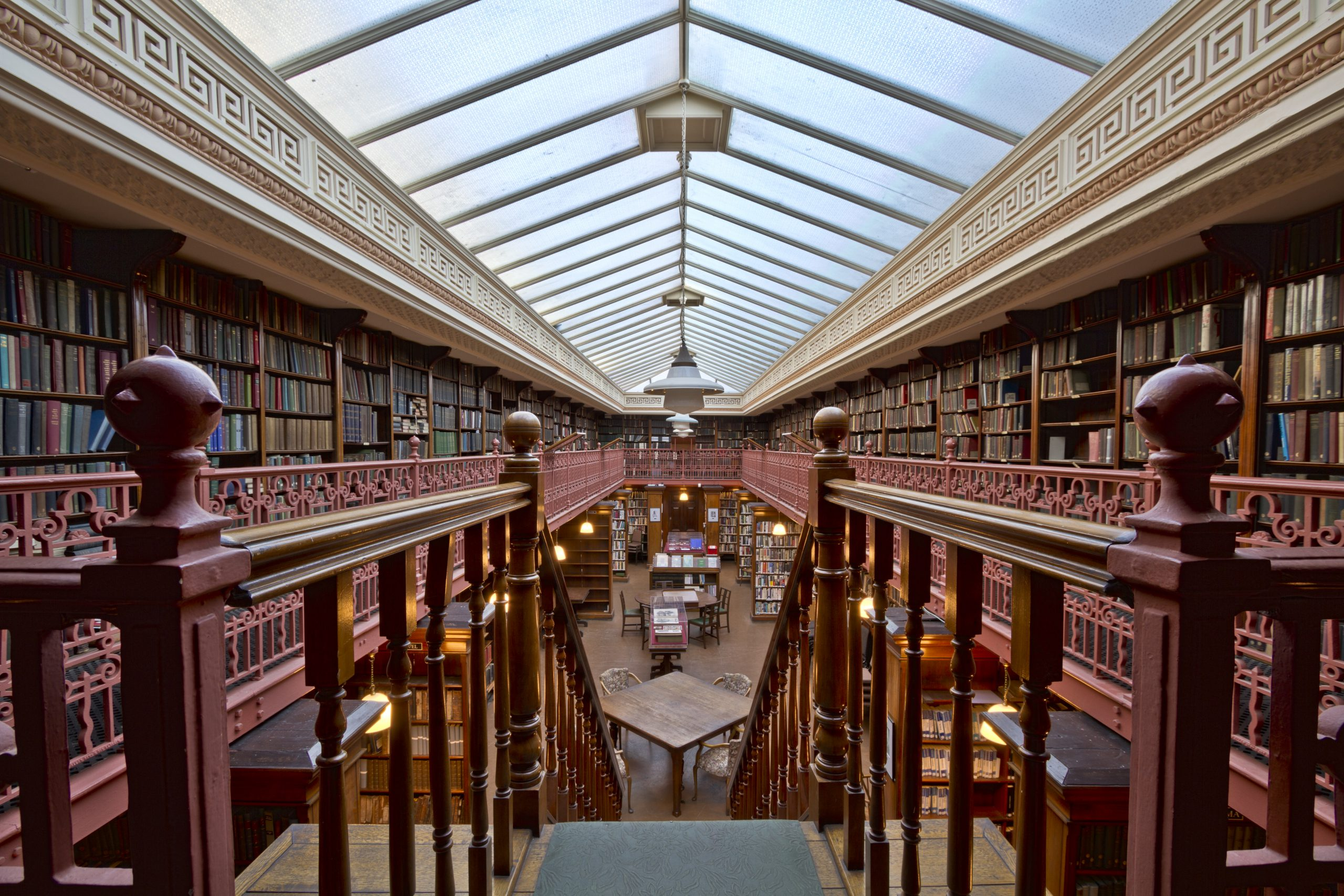 An image of the Brotherton Library. Taken looking down the staircase.